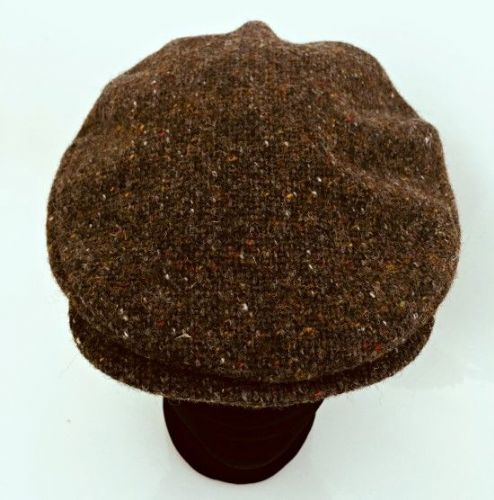 Hanna Hats Irish Tweed Peaked Vintage Style Cap